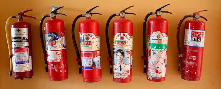 maintaining the extinguishers