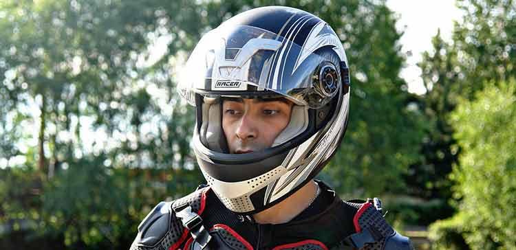 man with helmet on