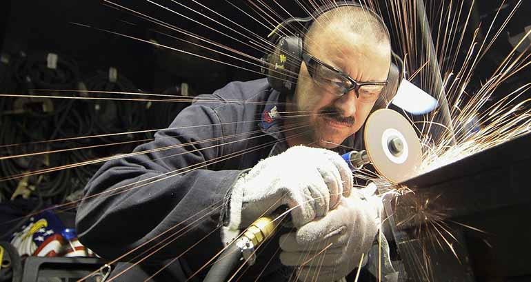 man grinding