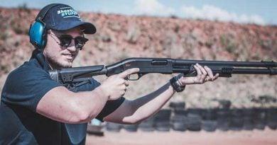 man shooting at a range