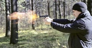 shooting with licensed handgun