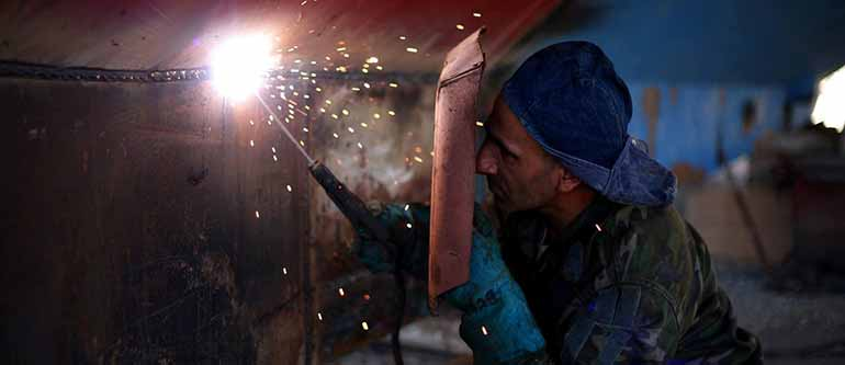 unprotected welding can cause arc eye