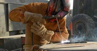 welding jacket on