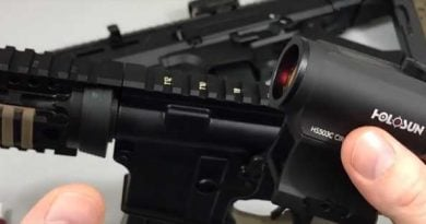 mounting a red dot sight