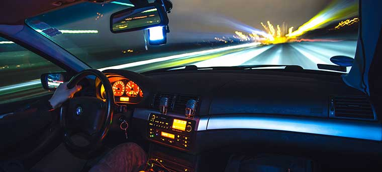 why should you drive slower at night